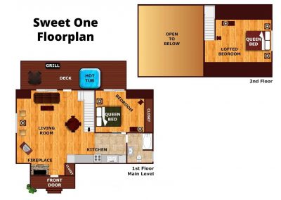 Sweet One Cabin Floorplan